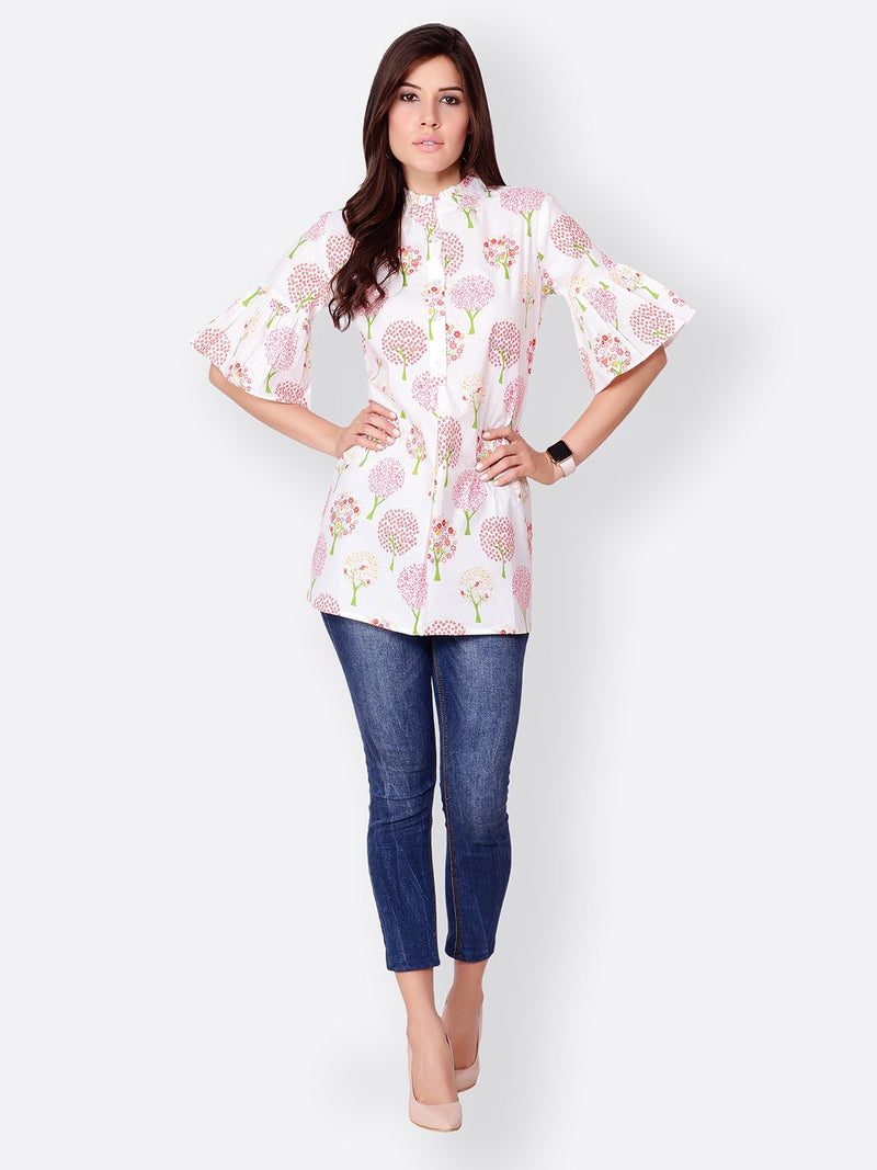 White Printed Tunic