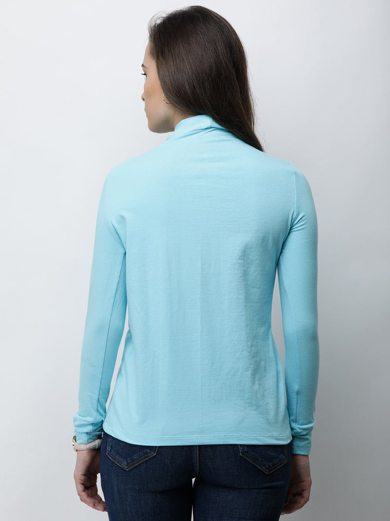 Blue Solid Top