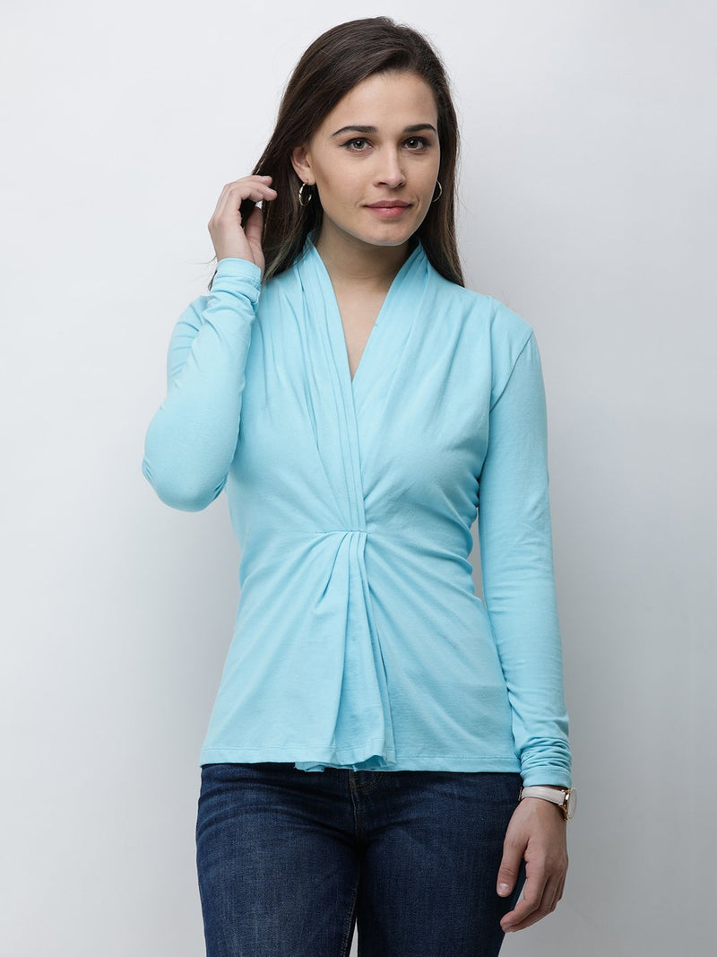 Cation Blue Solid Top