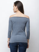 Grey Solid Top