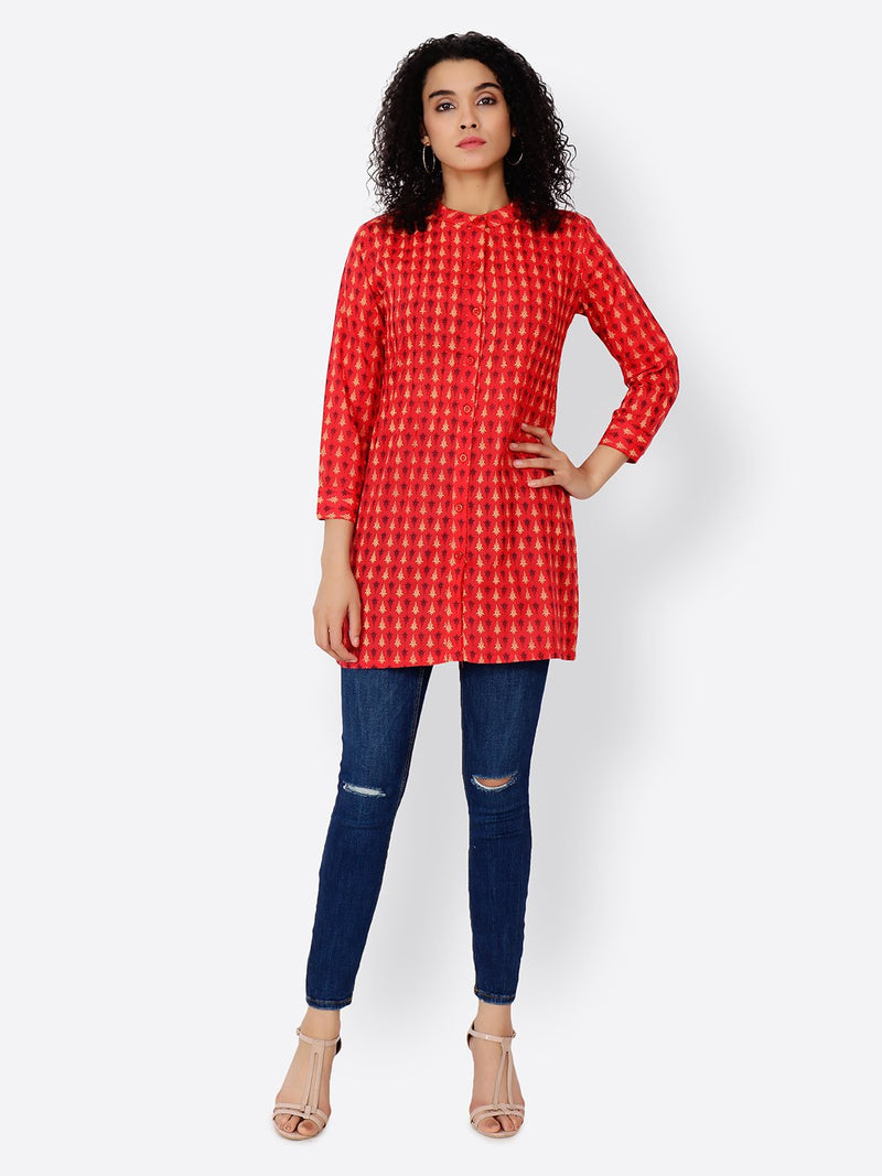 Cation Red Tunic