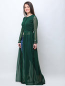 Green georgette tunic
