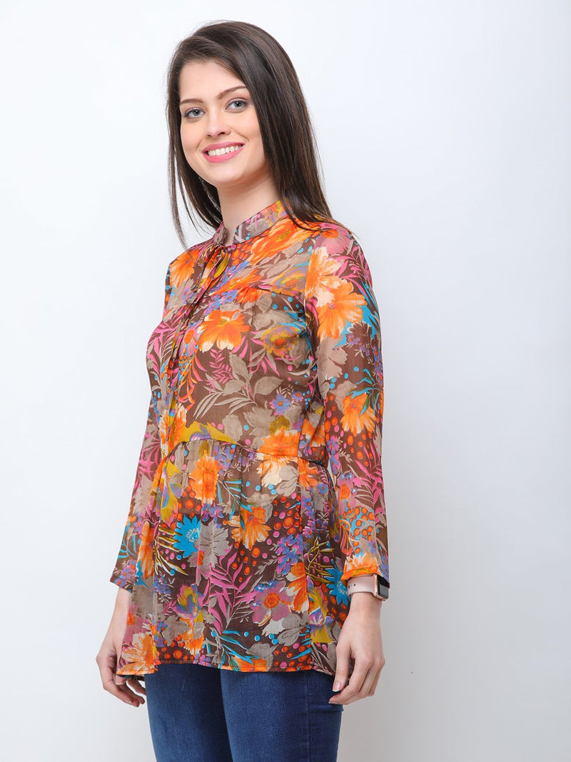 Multicolor Printed Tunic