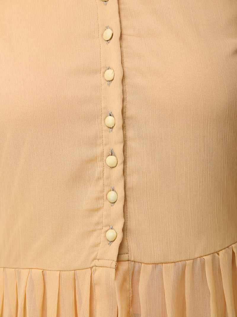 Beige solid tunic
