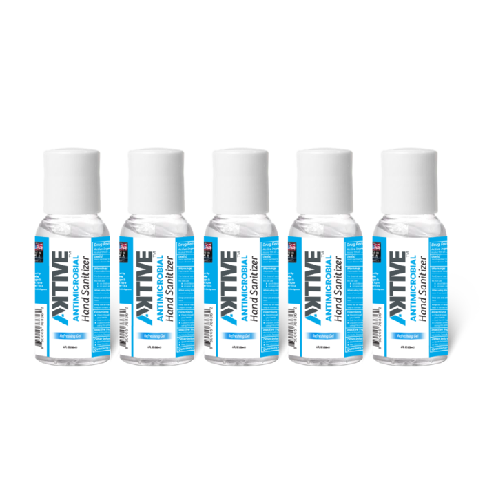 Aktive Hand-Sanitizer 4oz / 70% Ethanol (5 Count Pack)
