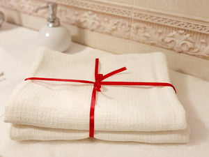 Towels set White