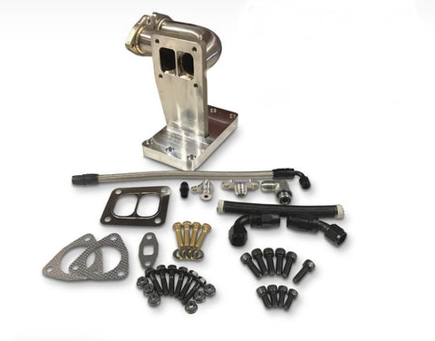 6.4 Powerstroke Single S300 Frame Turbo Install Kit (NO TURBO) - Black Market Performance