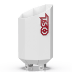Custom Gloss White 4 to 8 Octagon Exhaust Tip with Red TSO Logo
