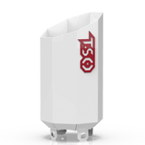 Custom Gloss White 4 to 7 Octagon Exhaust Tip with Red TSO Logo