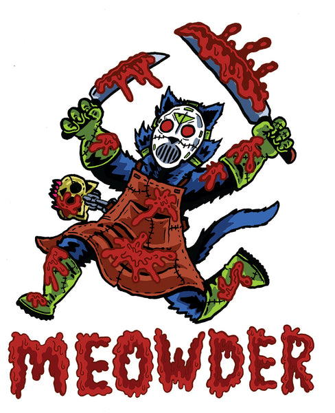 "Pretty Weird Tee Shirt Design - ""Meowder!"""