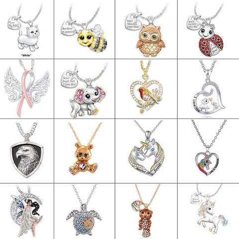 Wow Jewelry Shop 24 Style Cute Cartoon Animal Statement Necklace for Women Girls 2020