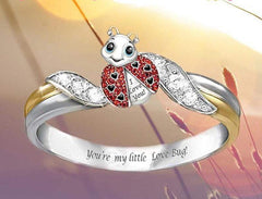 """wow jewelry  shop """"You're my little love bug"""" Lovely Miraculous Ladybug Rings for Women"""