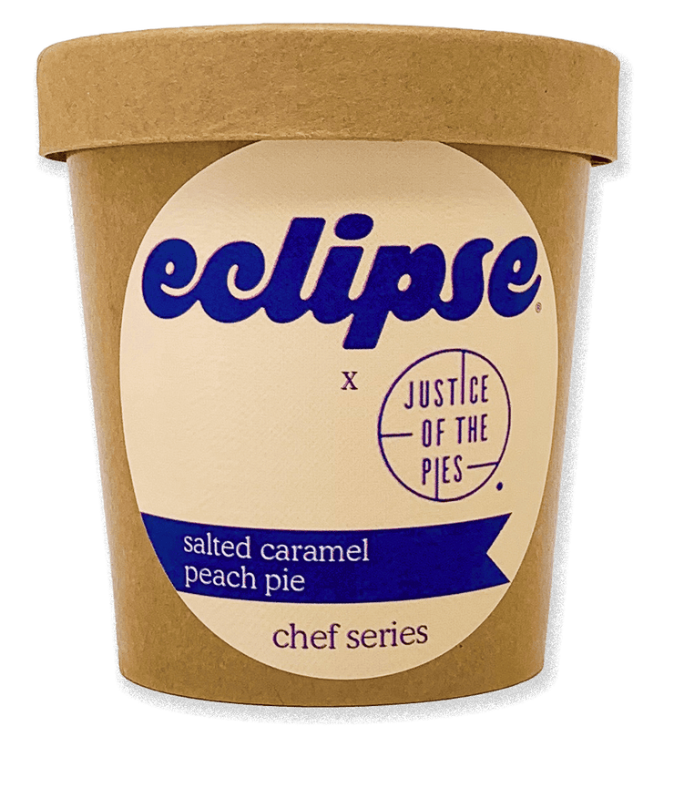 Justice of the Pies x Eclipse: Salted Caramel Peach Pie