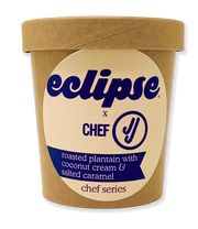 Chef JJ x Eclipse: Roasted Plantain Coconut Cream & Salted Caramel - Eclipse Foods