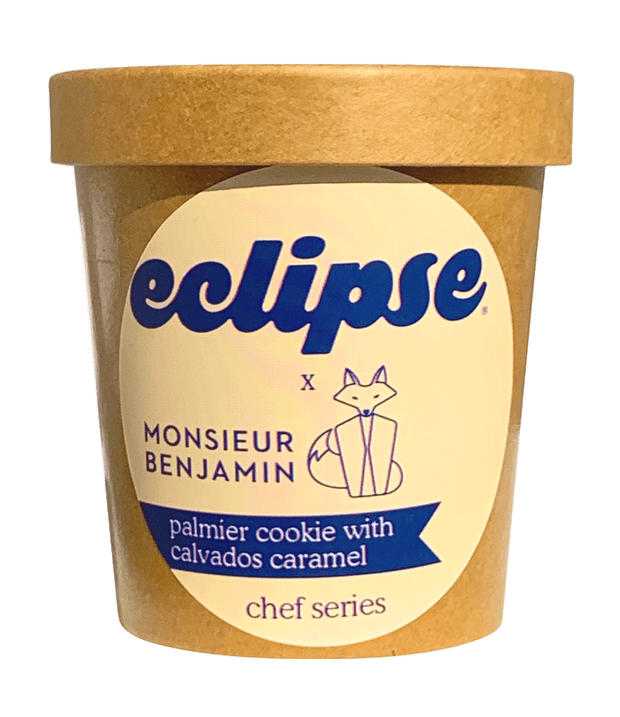 Monsieur Benjamin x Eclipse: Palmier Cookie with Calvados Caramel | Plant-Based