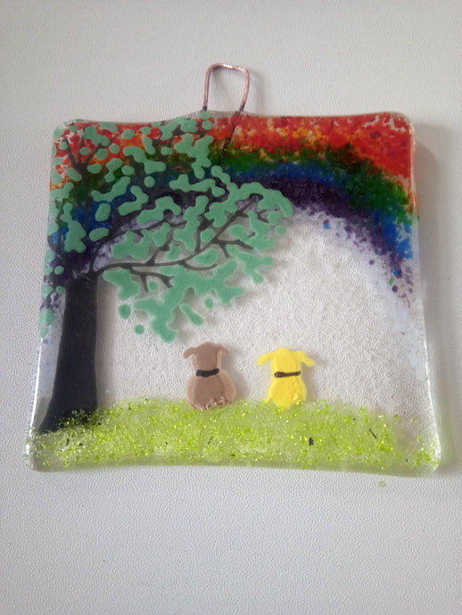 Dog Rainbow Countryside Wall Hanger