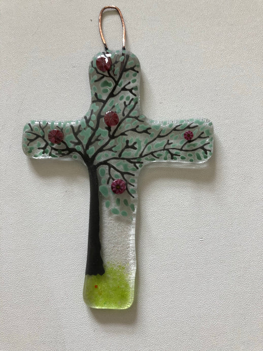 Spring Cross Wall Hanging