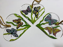 Load image into Gallery viewer, Butterflies hanging heart