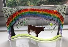 Load image into Gallery viewer, Cow self standing Rainbow