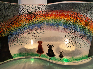 Pet Ashes Memorial Rainbow Glass