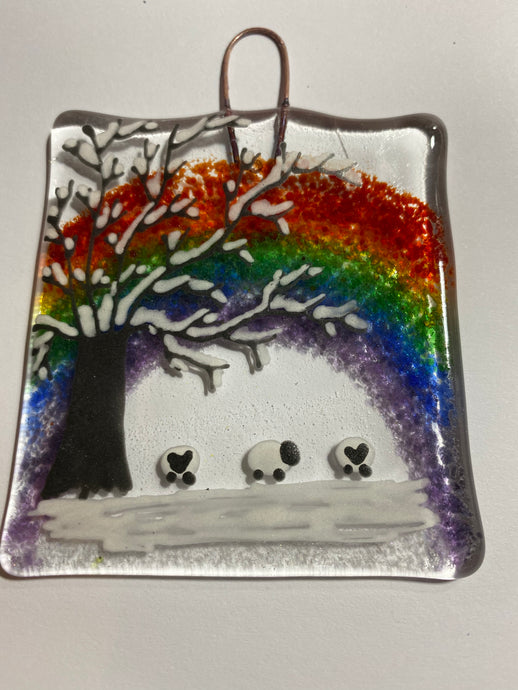 Limited edition Sheep Rainbow Winter Wall Hanger