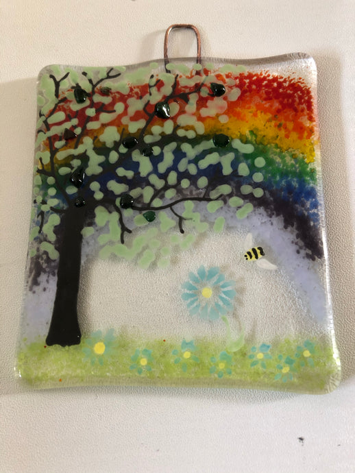 Bee & Rainbow Countryside Wall Hanger