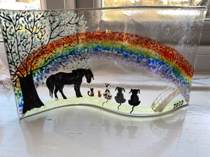 Animal rainbow bridge self standing Glass