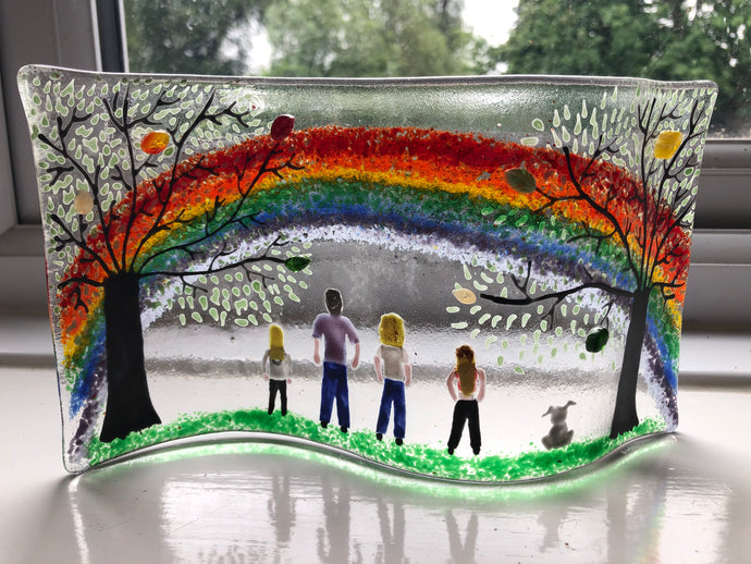 Personalised Family Rainbow self standing