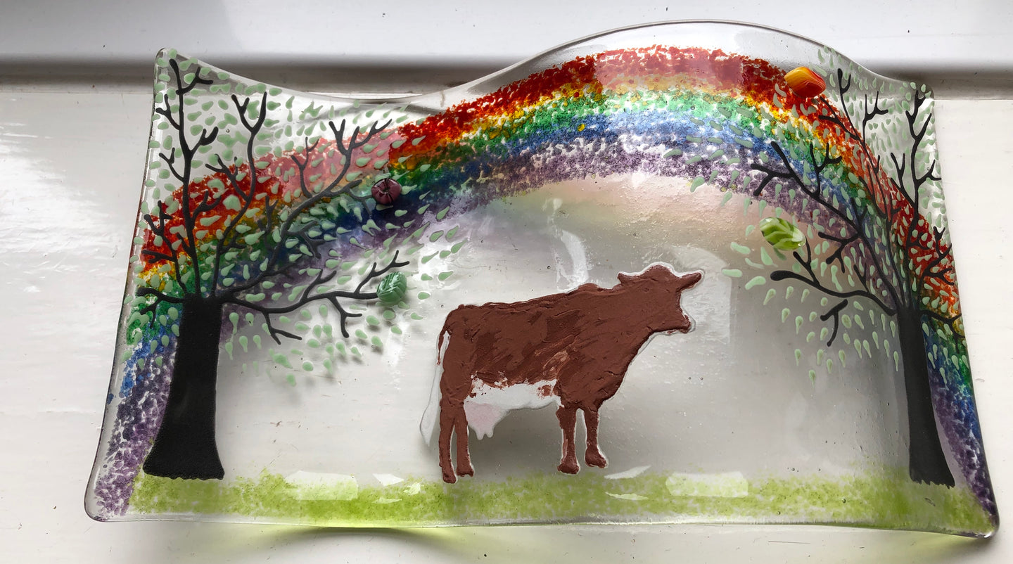 Cow self standing Rainbow