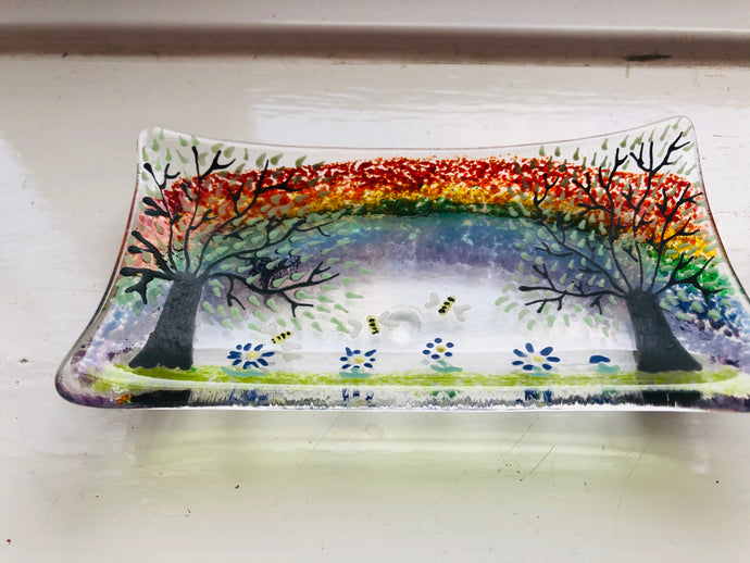 Bee Rainbow soap dish / trinket tray