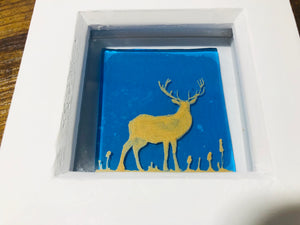 Stag in Box Frame