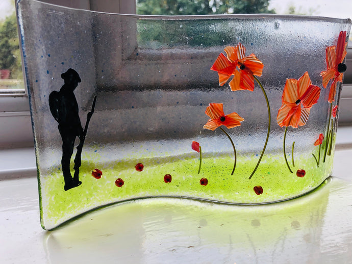 Self standing Remembrance Glass