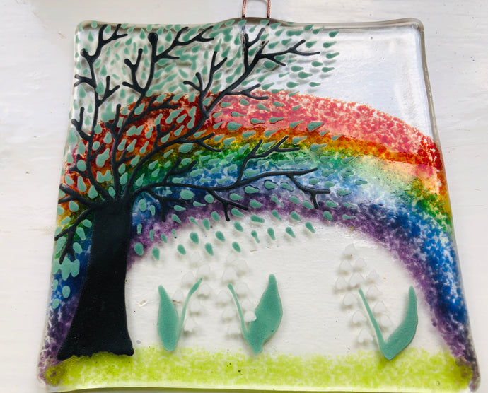 Medium Flower Rainbow Wall Hanger