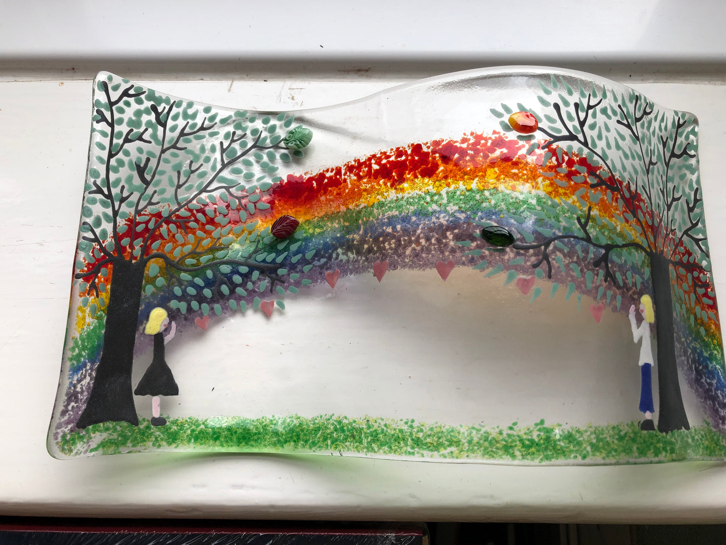 Personalised Love from afar Rainbow self standing