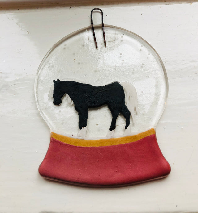 Personalised animal snow globe