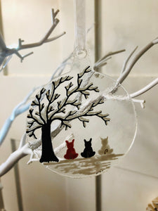 Personalised Christmas Bauble Hanger