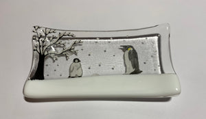 Penguins soap dish / trinket tray