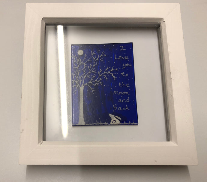 Large I love you to the moon & back Box Frame