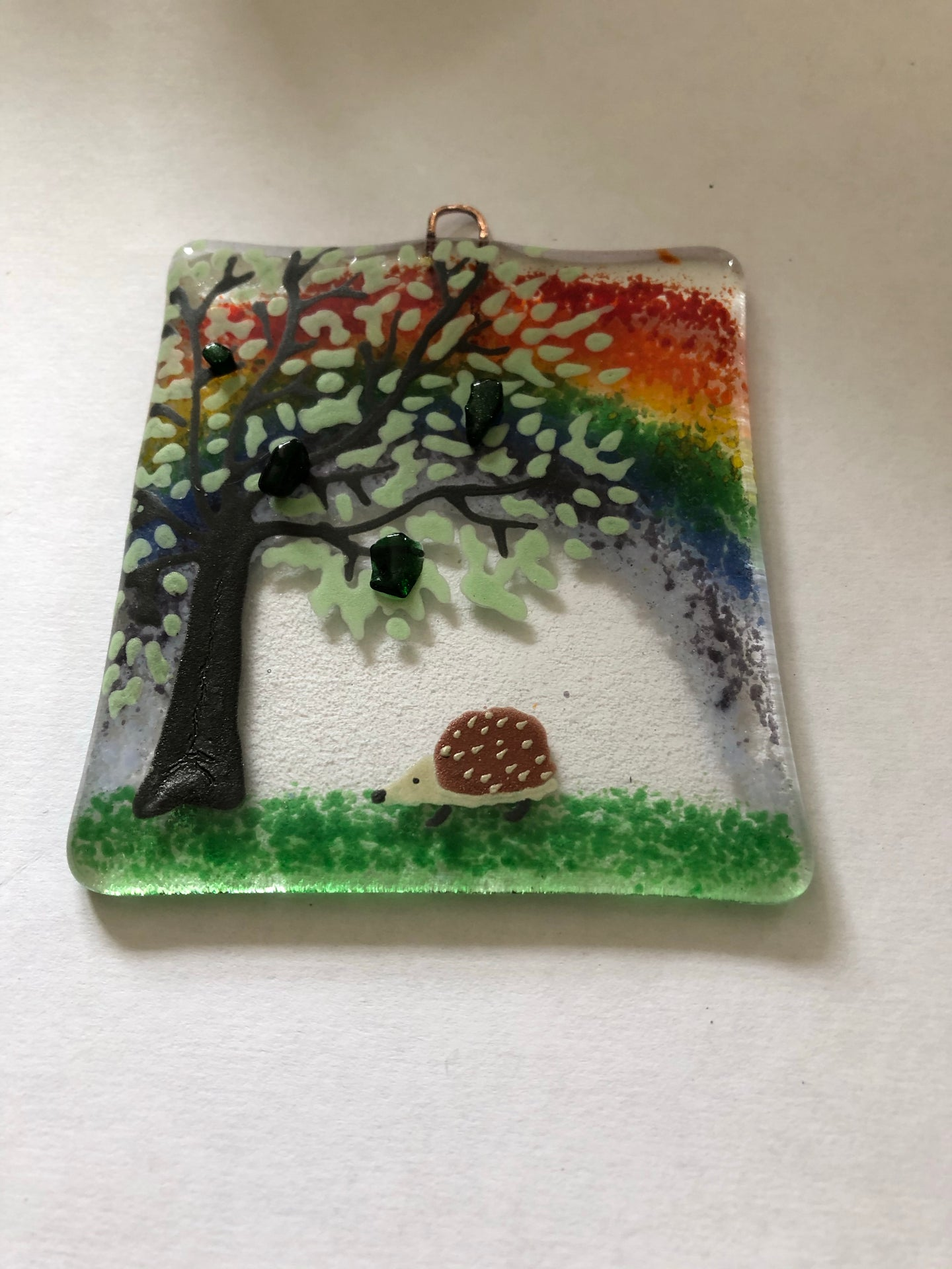 Hedgehog Rainbow Countryside Wall Hanger