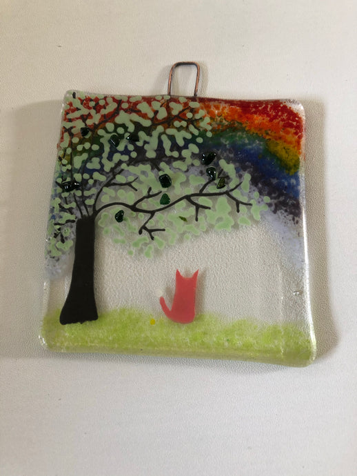 Fox & Rainbow Countryside Wall Hanger