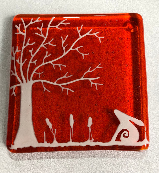 Orange Hare Coaster