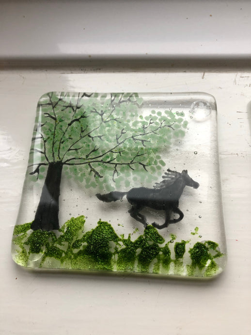Personalised Horse Coaster