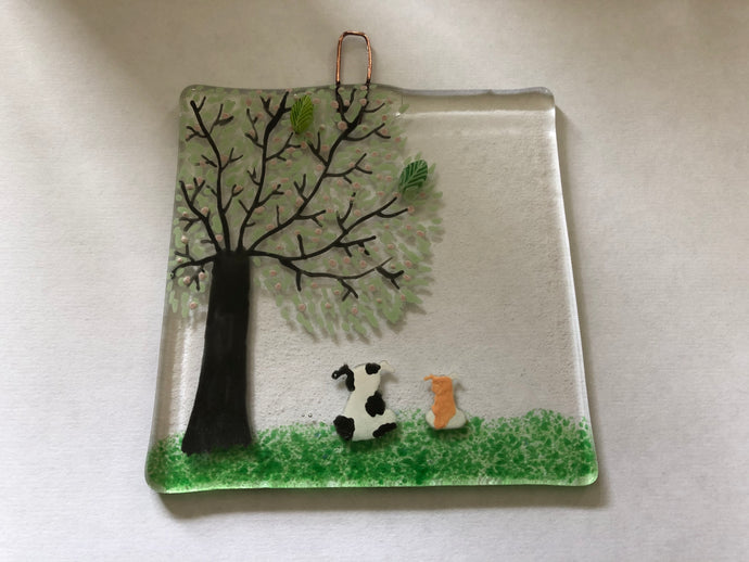 Dog Fused Glass Hanger