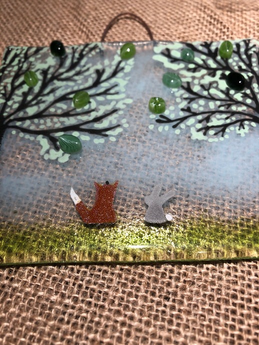 Large Summer Fox & Bunny Countryside Wall Hangings