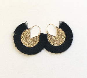 Dhara Earrings (Design 2) - Black