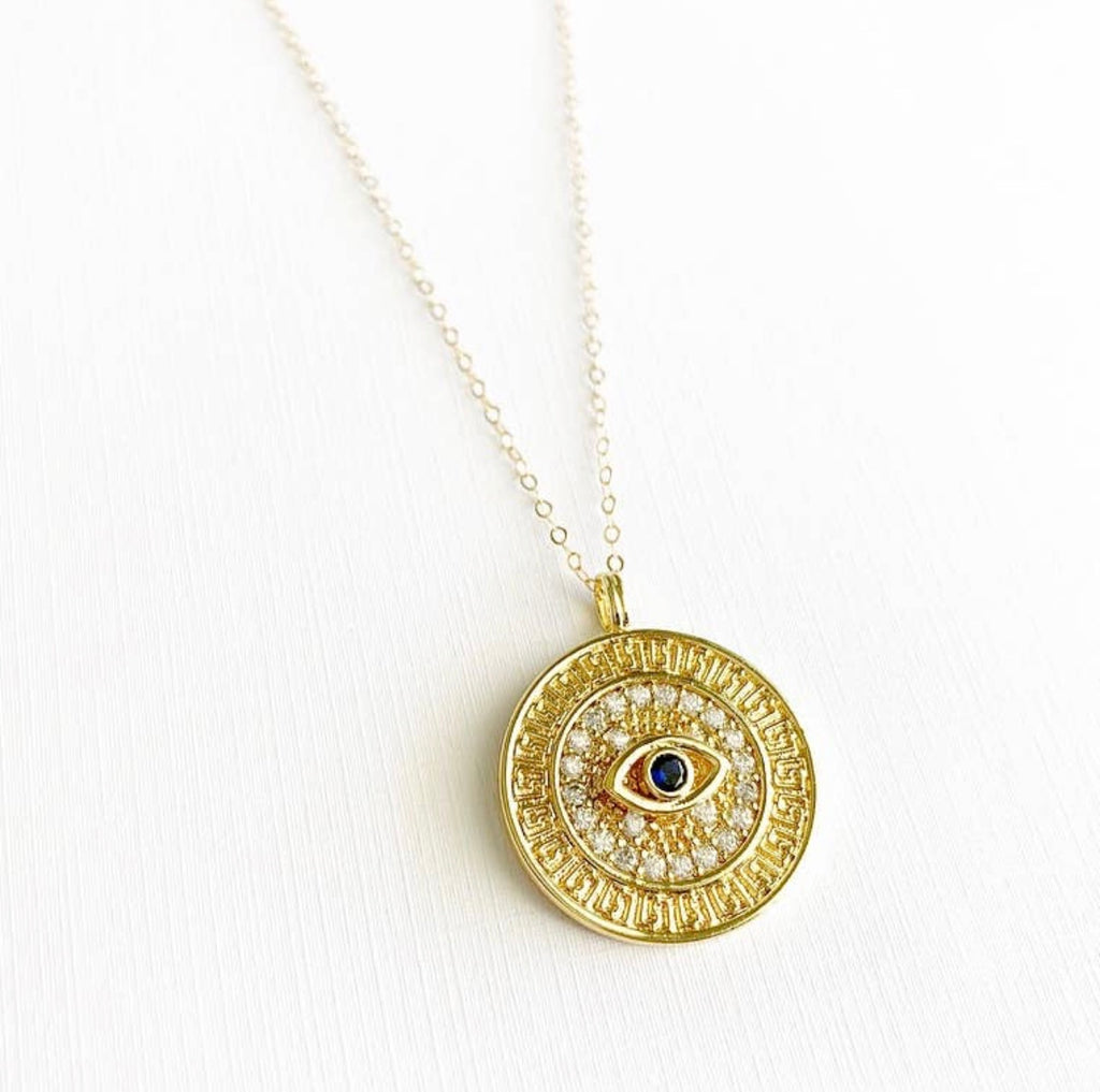 Dhara Necklace - Evil Eye Medallion