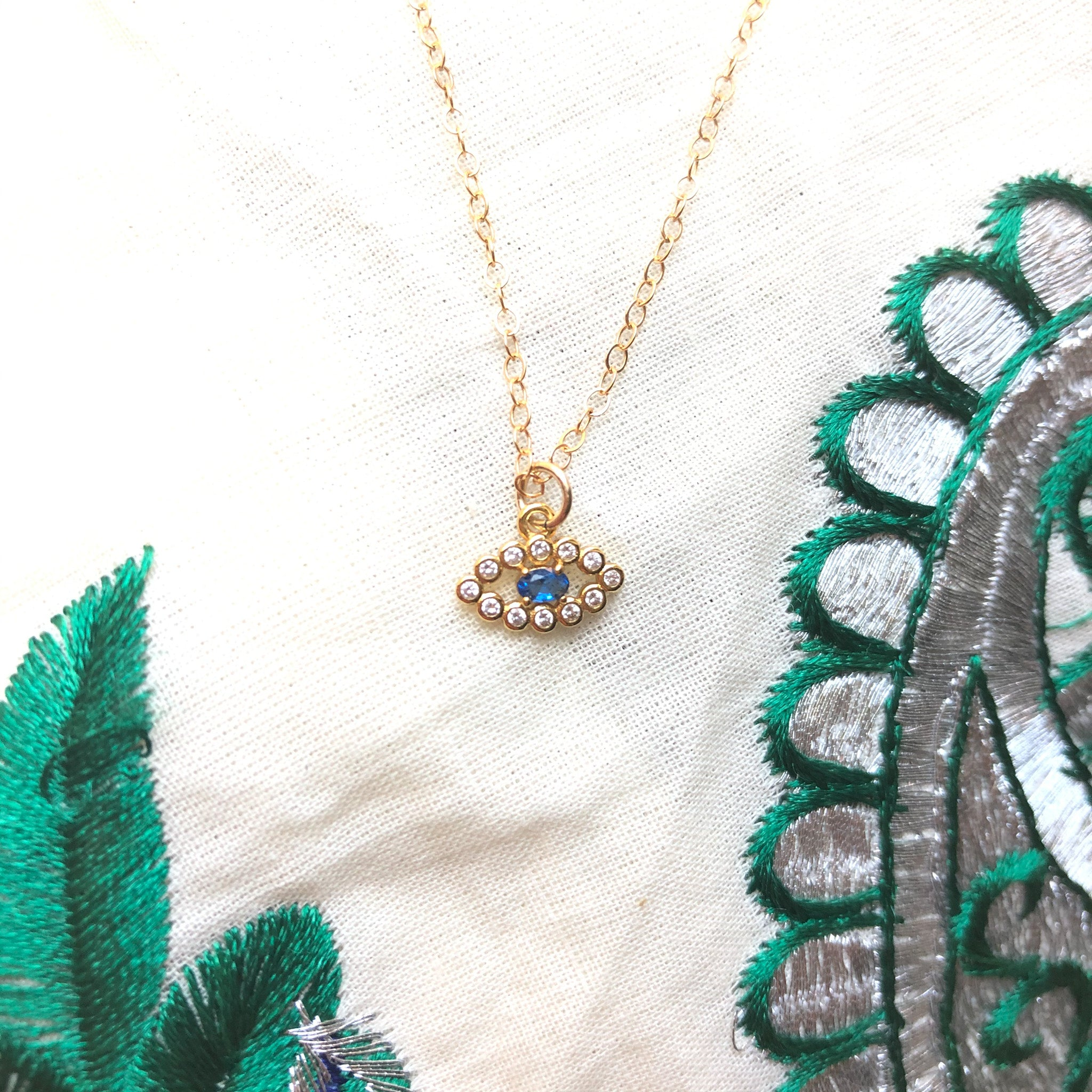 Dhara Necklace - Dainty Evil Eye