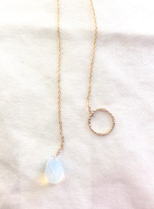 Opalite Pull-Through Necklace