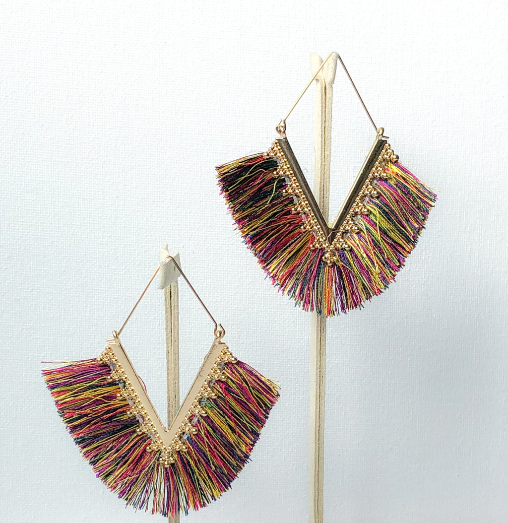 Pankhi Earrings - Multi-Color
