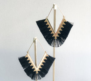Pankhi Earrings - Black